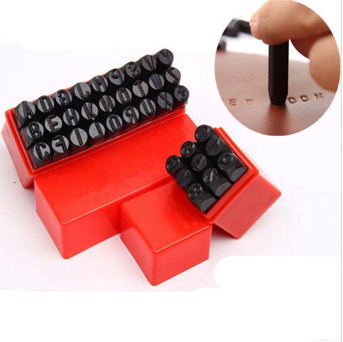 Leather Letters Number Digital Tools Craft Stamp Carving