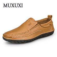 Men Leather casual Shoes Genuine Leather Shoes Men Oxford Fashion Shoes Outdoor Work hand made winter snow