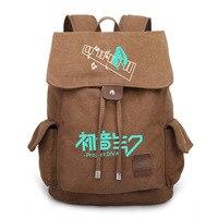 Новый VOCALOID Hatsune Мику рюкзак студент Школьные сумки boobkag портфель Косплэй Аниме Холст Рюкзаки рюкзак сумка для ноутбука