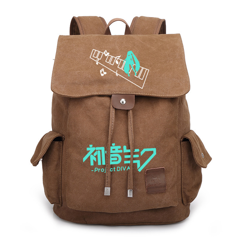 New VOCALOID Hatsune Miku Backpack Student School Bags Boobkag Satchel Cosplay Anime Canvas Backpacks Rucksack Laptop Bag free shipping vocaloid hatsume miku short green anime cosplay wig 2 x ponytails