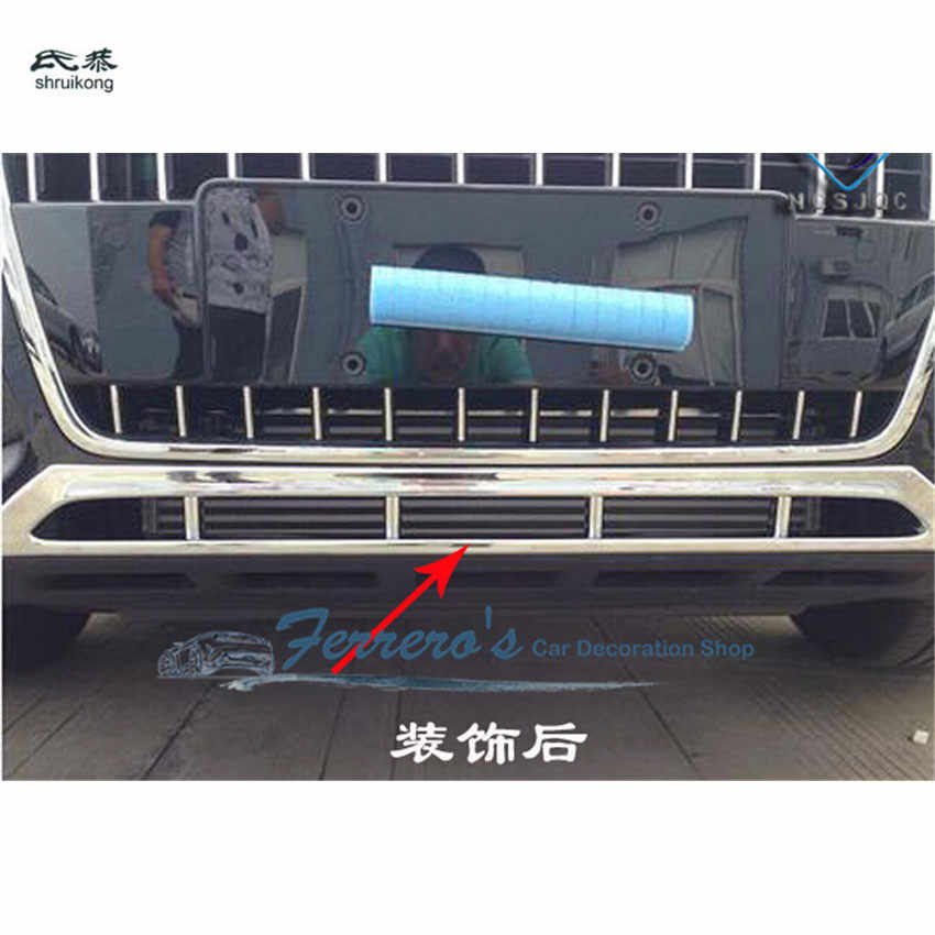 1pc ABS Chrome Car stickers Car grille bottom decoration Cover For AUDI 2013-2015 Q5 car-styling