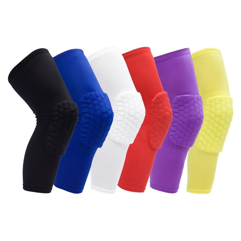 1pcs Honeycomb Basketball knee Pads Calf Sport Safety Outdoor Leg Guard Support Adult Football Brace Sleeve knee Protector R99
