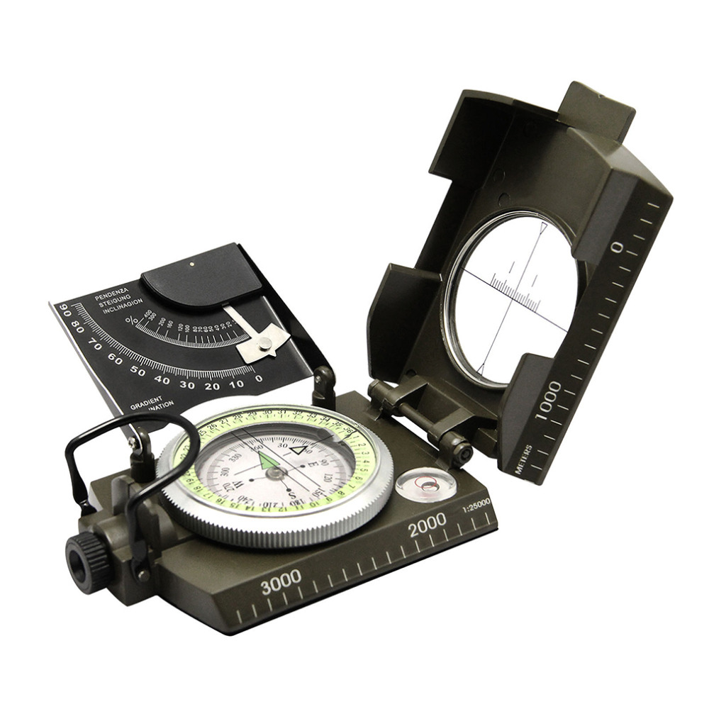 High Quality Professional Military Army Geology Compass Sighting Luminous Compass for Outdoor Hiking Camping Drop Shipping