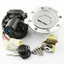 цена на Fuel Tank Cover Cap Lock With Ignition Switch Lock FOR Yamaha YZF R1 R1 2004-2014 YZF R6 R6 2006-2016
