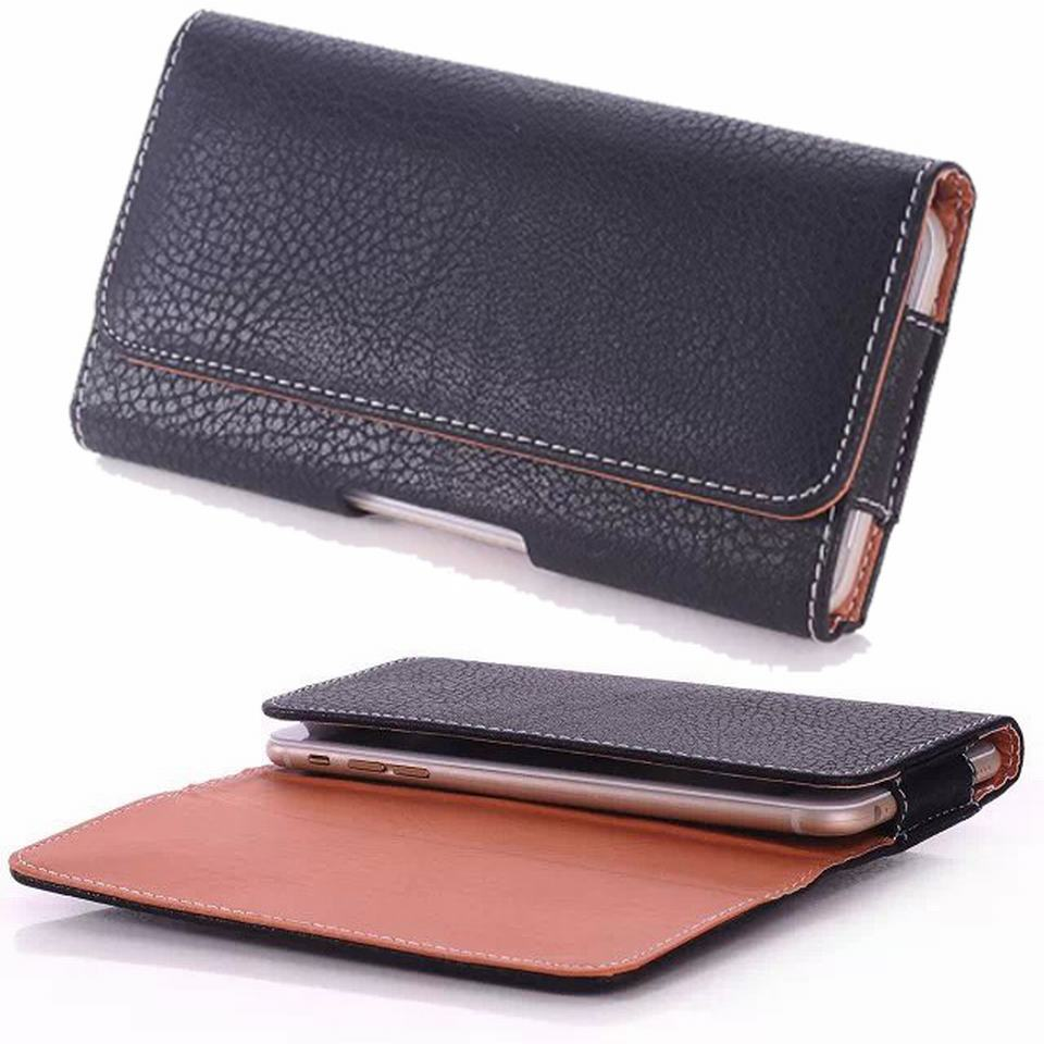 Black Holster Leather Phone Case Belt Clip For iPhone 6 Plus LG G3 Samsung Galaxy Note 3 4 Oneplus One For Xiaomi Redmi Note
