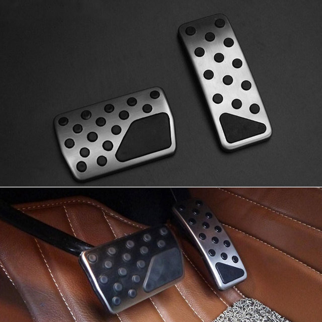 1pair Aluminum Alloy Accelerator Fuel Brakes Pedals Cover Trim Protector For Grand Cherokee 2014 2015 Car Styling