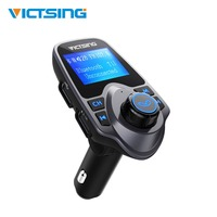 VicTsing Wireless Adapter Bluetooth FM Transmitter Radio Adapter Car Kit With Large Display Screen TF Card