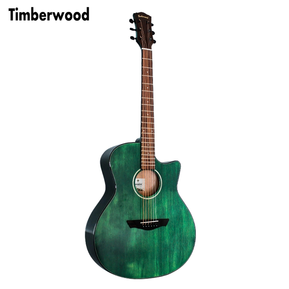 41 inch Cutaway Guitar Glossy Finishing Solid Spruce Sapele Acoustic Guitar Green color Guitar AGT11141 inch Cutaway Guitar Glossy Finishing Solid Spruce Sapele Acoustic Guitar Green color Guitar AGT111