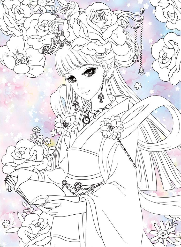 New Adult Children Coloring Book About Ancient Beauty Girls Ladies Relieve Stress Kill Time Graffiti Painting Drawing Book
