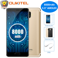 OUKITEL K8000 8000mAh Mobile Phone 5 5 18 9 Screen Octa Core 4GB 64GB 13MP Dual