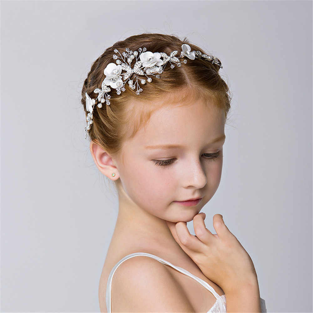 Princess Crystal Tiaras and Crowns Headband Kid Girls Love Bridal Prom  Crown Wedding Party Accessiories Hair c119a4625171