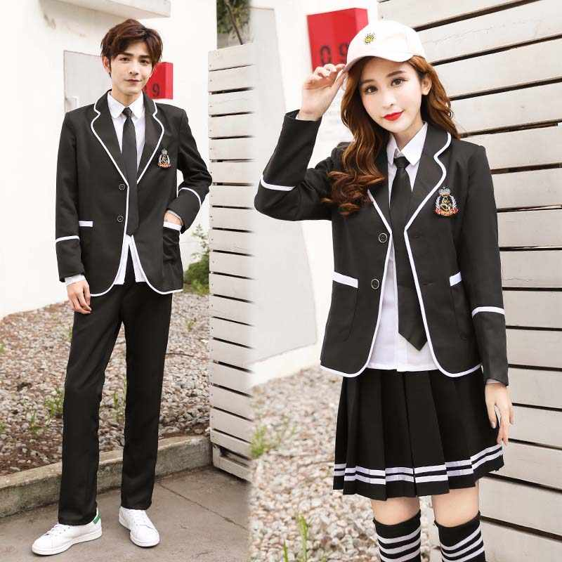 19b143c388fb4d ... Students Long-sleeved School Uniforms Male Female Japan Korea Jk  Uniforms Junior High School Boys ...