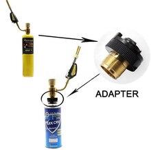 "Adapter CGA600(1 "" 20UNF) om 220G Butance Cartridge Voor Braze Lastoorts Mapp Propaan Gas Torch Verwarming Soldeer Brander Adapter"