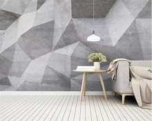 Купить с кэшбэком Beibehang Modern home background wall 3d wallpaper mural high quality Abstract geometric solid lines wall papers home decor
