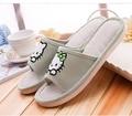 Hello Kitty indoor zapatillas 2016 primavera y el verano nuevo estilo de Lino material antideslizante soles