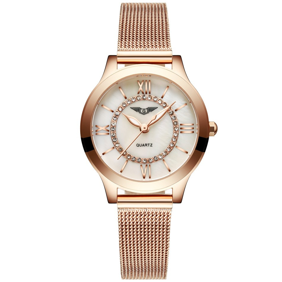 GUANQIN Women Watches Fashion Casual Quartz Watch Gold Women Bracelet Watch Stainless Steel Strap relogio feminino famous brand  (11)