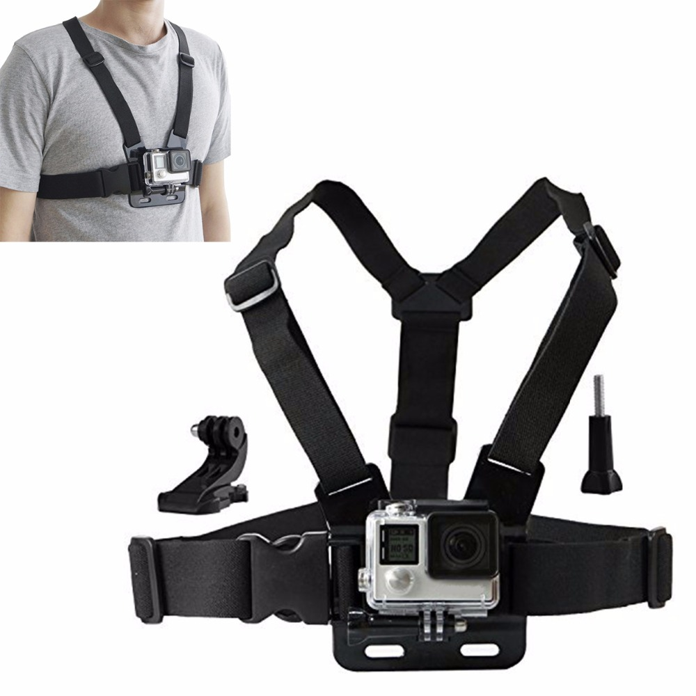 Action camera Chesty Strap for Gopro hero <font><b>7</b></font> 6 5 4 SJCAM SJ4000 Chest Mount Harness for Go Pro SJCAM for Xiaomi yi sport camera image