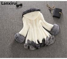 Zima luksusowy sztuczny lis futro kobiet płaszcz z kapturem płaszcz sztuczne futro z norek płaszcz ślub panny młodej Cape Flare rękaw znosić
