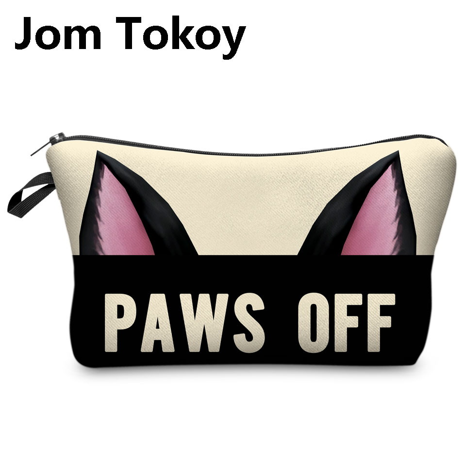 Jom Tokoy 3D Printing Makeup Bags Cartoon animal pattern Cosmetics Pouchs For Travel Ladies Pouch Women Cosmetic Bag jom tokoy 3d printing unicorn makeup bags multicolor pattern cute women cosmetic bag