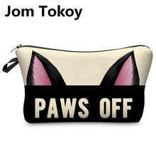 Jom Tokoy 3D Printing Makeup Bags Cartoon animal pattern Cosmetics Pouchs For Travel Ladies Pouch Women
