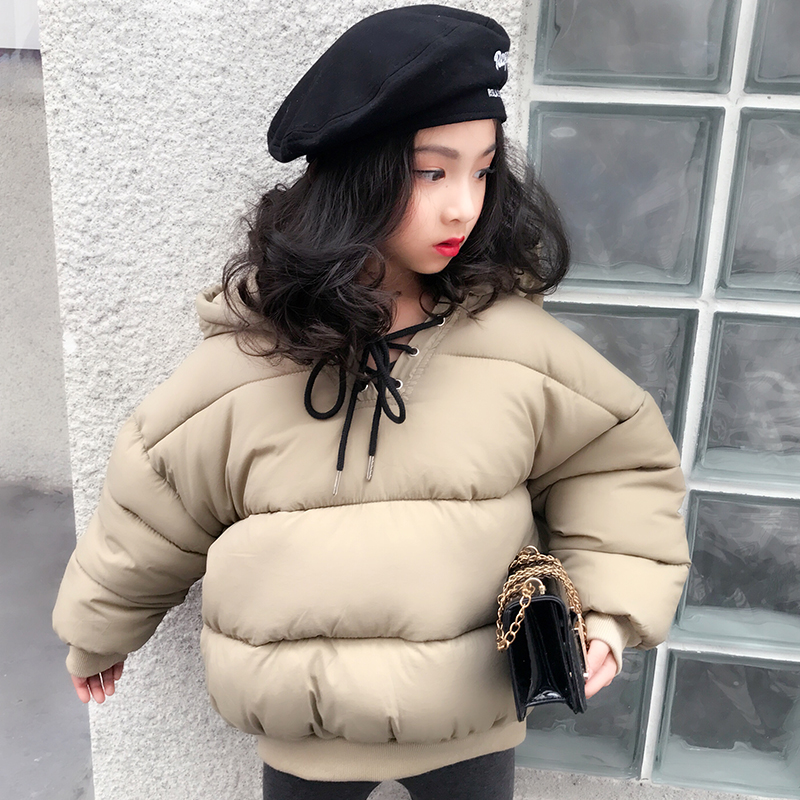 Girls thick cotton suit 2018 winter new girls Korean version of the head of solid color bread clothing coat jacket in the winter of 2015 the new cotton jacket mixed male clothing winter cotton thickened 5 color free delivery