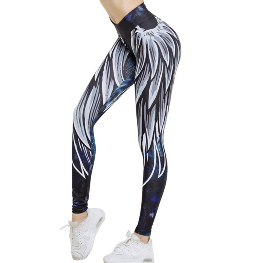Harajuku 3D wing leggings for women 2018 push up sporting fitness legging athleisure bodybuilding sexy womens pants