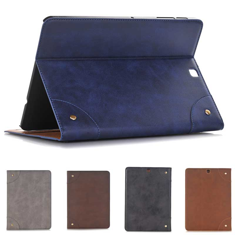 outlet store 10d97 b48b2 US $17.28 |Newest Retro Book Leather Case for Samsung Galaxy Tab S2 8