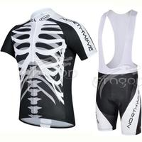 High Quality Skeleton Breathable Pro Bike Wear Ropa Ciclismo Bicicleta Cycling Jersey BIB Short Pants Gel