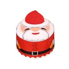 Праздничный торт моделирование Хлопковое полотенце Санта-полотенце со снеговиком подарки для рождественской вечеринки P7Ding