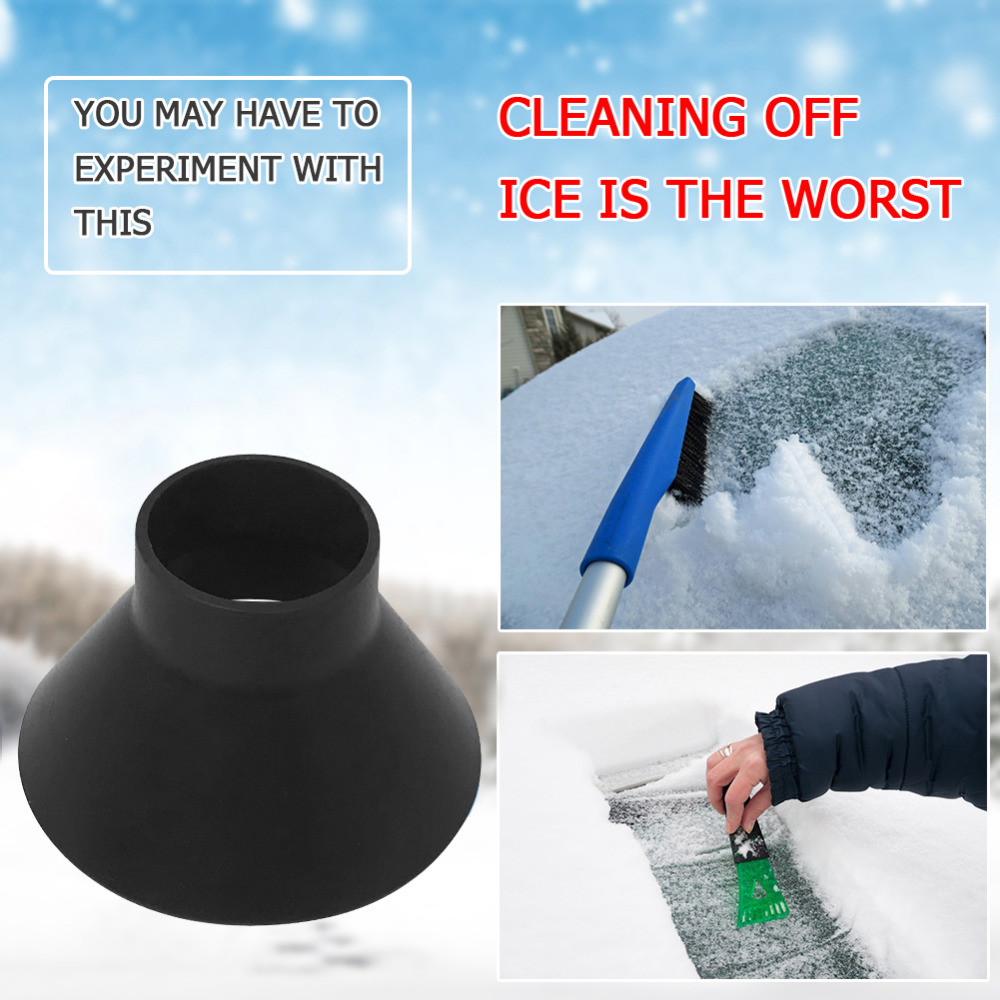 1PCS Auto Car Magic Window Windshield Car Ice Scraper Shaped Funnel Snow Remover Deicer Cone Deicing Tool Scraping ONE Round