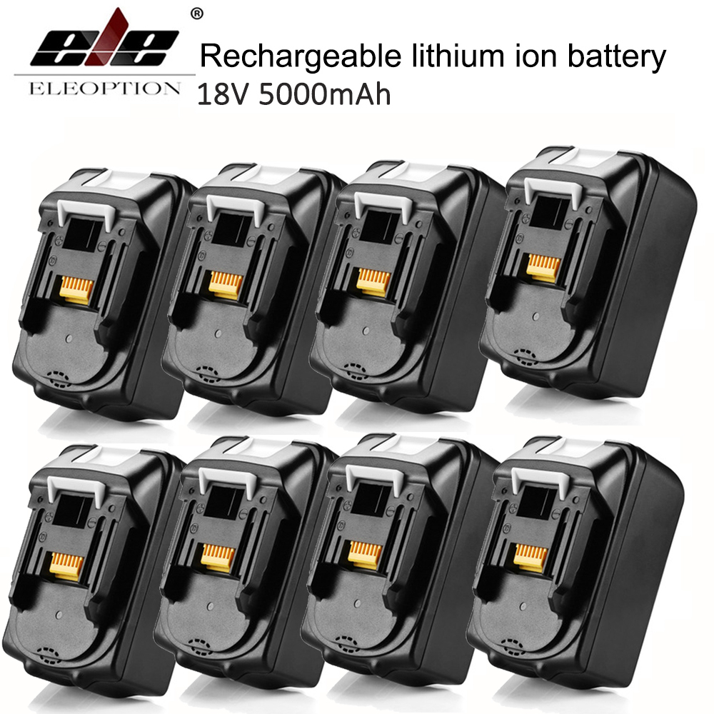 8x For Makita BL1850 18V Battery 5000mAh Rechargeable Lithium-ion Li-ion Power Tools Batteries for Makita BL1840 BL1830 eleoption for makita 18v 3000mah power tool battery pack for bl1830 bl1840 recharegeable battery cordless drill li ion batteries