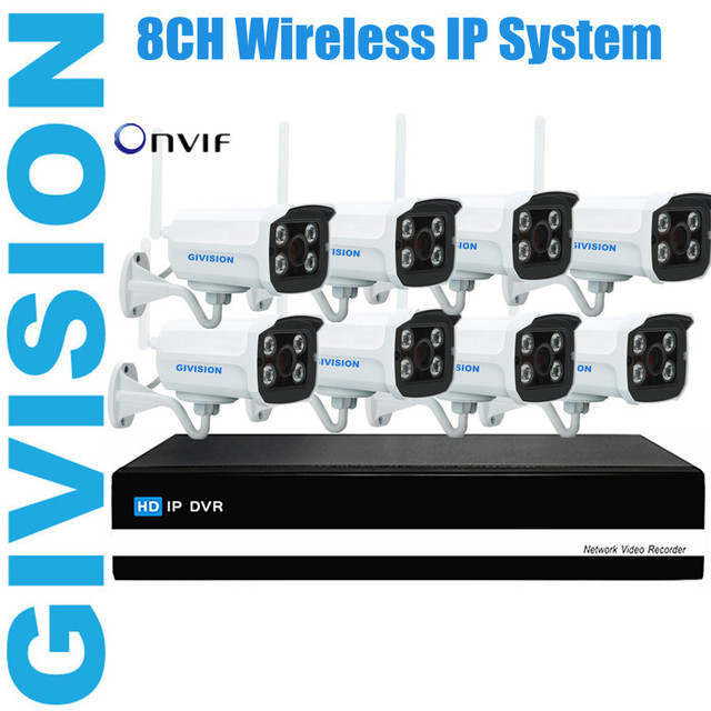 8ch wireless video security home mini 8 ip camera nvr cctv system ...