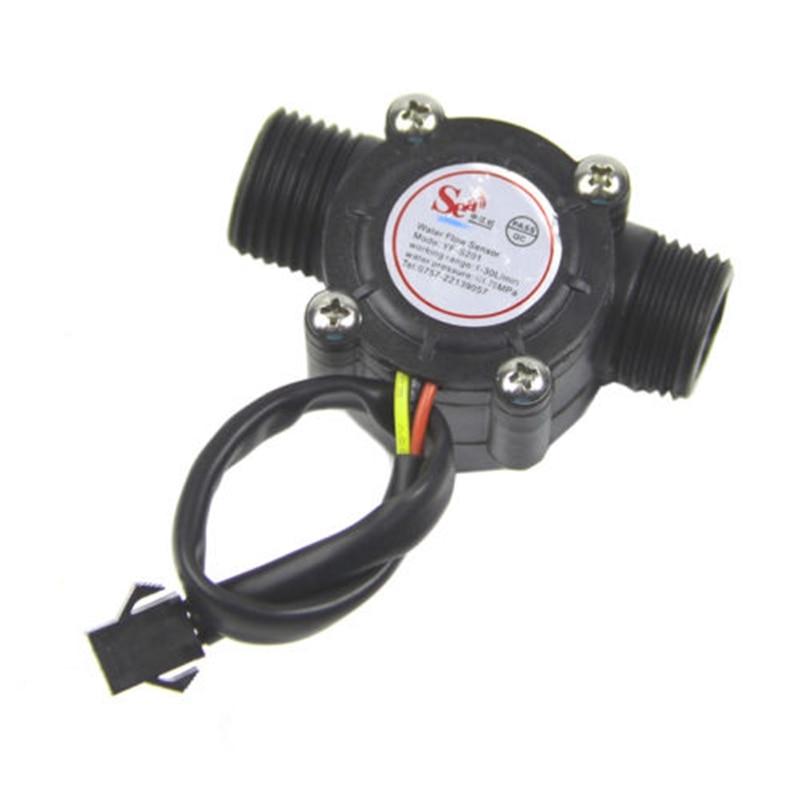 Water flow sensor flowmeter Hall flow sensor Water control 1-30L/min 2.0MPa NEW цена