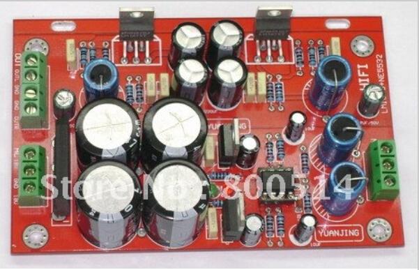 YJ-Montado LM1875 + NE5532 placa Amplificador de Potência de Áudio 30 W + 30 W