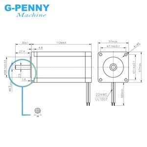 Image 2 - Hàng Mới Về Nema23 Động Cơ Bước 57X112 Mm 4.2A 3.2Nm D = 8 Mm CNC Động Cơ Bước Trục Duy Nhất 457Oz in Cho Máy CNC, 3D Máy In