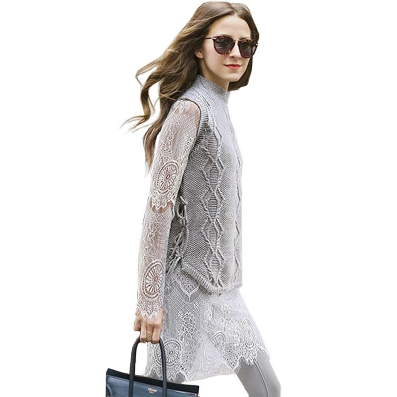 Awesome Pull A La Mode #11: Col Roulé Chandail à La Mode Robe Femmes Jersey Chandails De Noël Douce  Femme à Tricoter