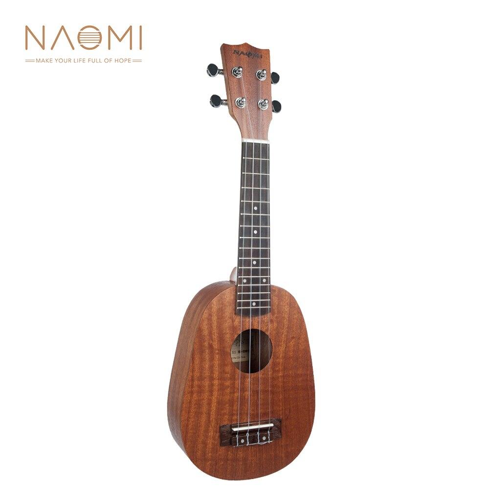NAOMI 21/23/26 pouces ukulélé ananas forme mat étudiant ukulélé débutant ukulélé Instrument de guitare nouveau produit