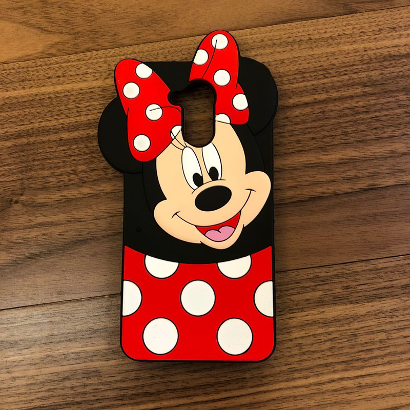 For Huawei P9 Lite Smart DIG-L03 DIG-L22 DIG-L23 Case Cute Minnie Mouse 3D Silicon Cartoon Soft Phone Back Cover Case