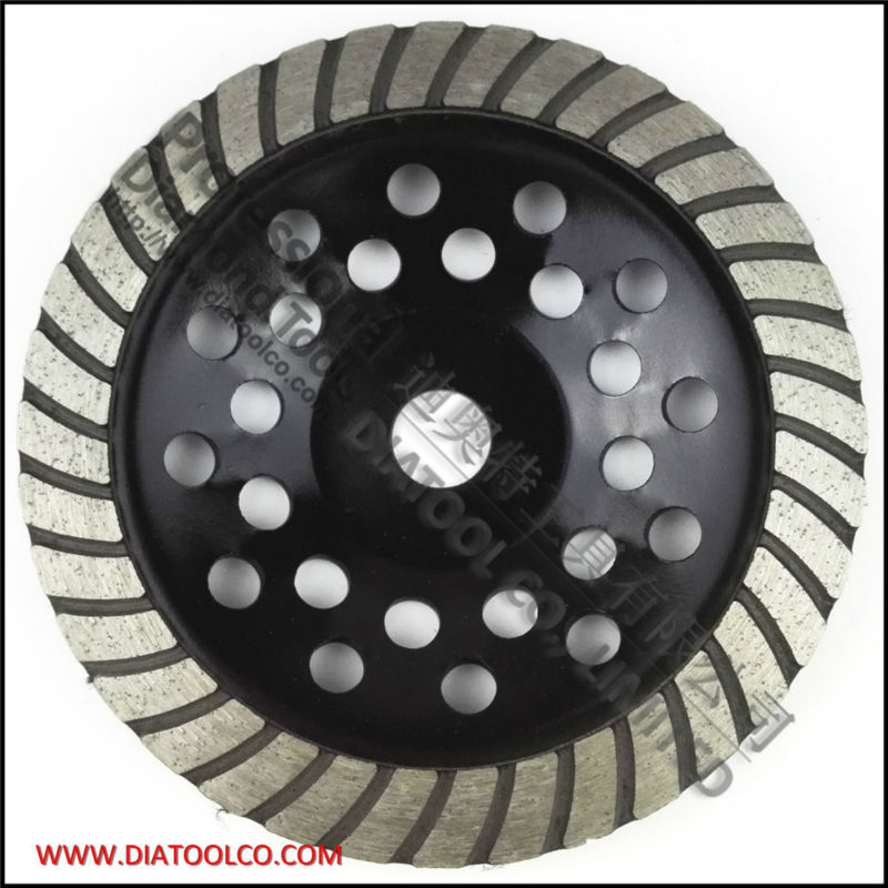 ФОТО 180mm diamond Turbo row cup wheel for concrete & masonry, diameter 7 inch, bore 22.23mm, sintered turbo grinding wheel