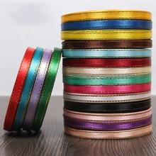 yardsroll mm oro borde cinta de raso cintas cintas de embalaje del regalo