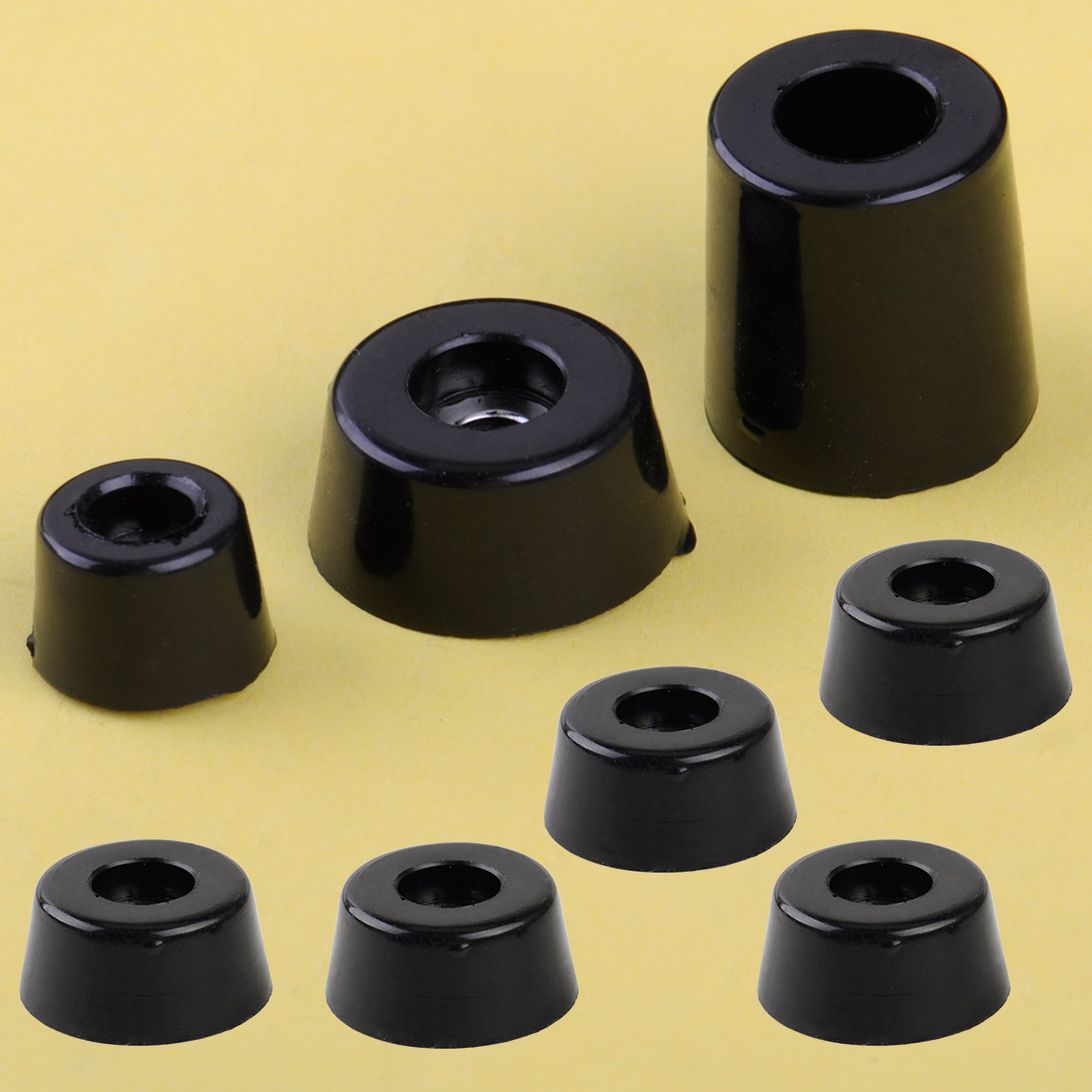 8pcs-speaker-cabinet-furniture-chair-table-box-conical-rubber-foot-pad-stand-shock-absorber-s-m-l-skid-resistance