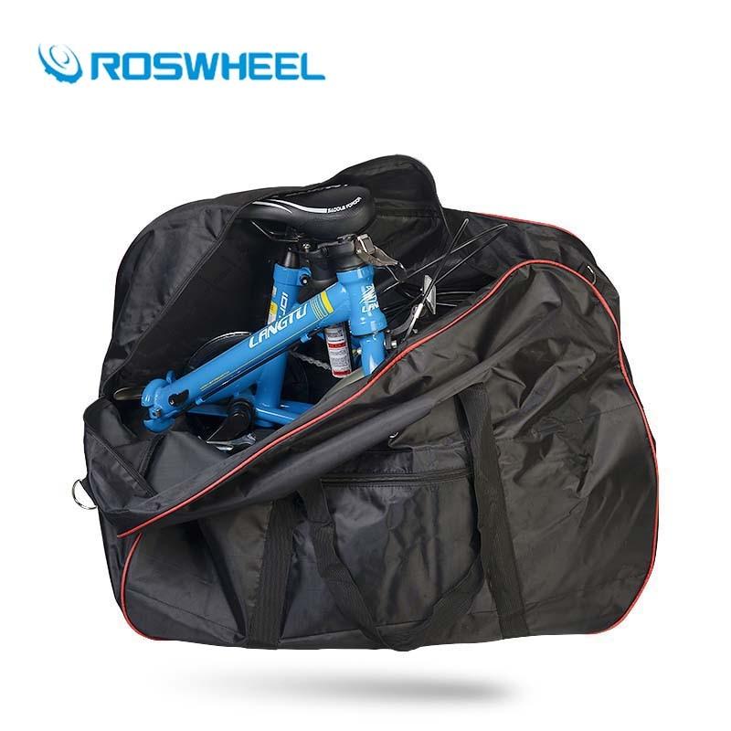 Roswheel Bicycle Bike Bag 14-20 Inches Folding Storage Bag Carrier Handlebar/Saddle Bag Large Stuff Space Cycling Accessories cycling bike bicycle handlebar tape belt wrap w bar plug yellow camouflage 2 pcs