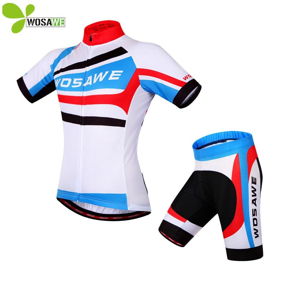 WOSAWE Men's cycling jersey Sets 3D Padded Shorts summer breathable shirts tights suits road bike Ciclismo riding Clothing wosawe men long sleeve cycling jersey 4d gel padded tights