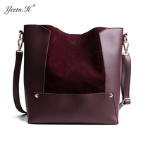 Yeetn.H Casual Suede Leater Handbsgs for Women Winter Warm Shoulder Solid Design Crossbody Bags Global Shopping Festivals Y4293