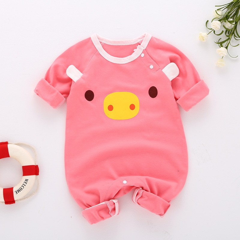 winter baby girl   romper   lion printed toddler girl clothes long sleeve newborn baby clothes warm cotton children clothing set