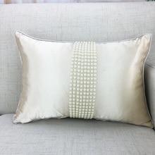 Fashion korean cushions luxury pearl white cushion bolster throw pillow yarn ruffle wedding decoration bebroom textile sale