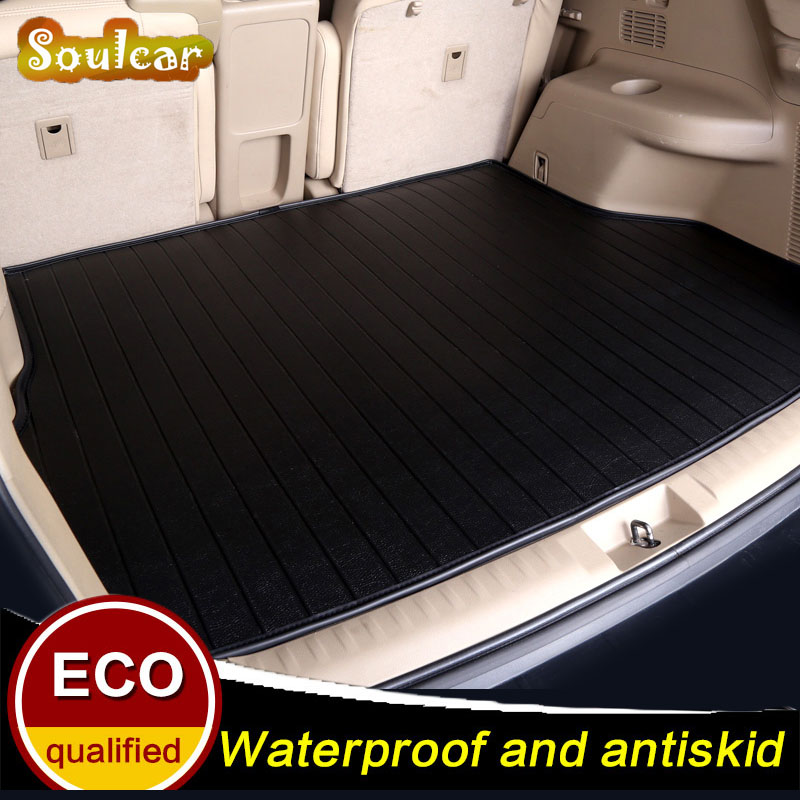 Custom car trunk mat for Volkswagen VW LAVIDA Tiguan L Polo JETTA Touran Touareg 2008-2017 BOOT LINER REAR TRUNK CARGO TRAY MATS silk breathable embroidery logo customize car seat cover for vw volkswagen polo golf fox beetle sagitar lavida tiguan jetta cc