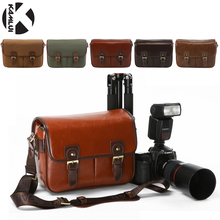 Photo Bag PU Leather Vintage Digital Shoulder DSLR Camera Bag for Nikon Canon D5300 D3200 D7200 700D 600D D3100 D5500 D3300 80D