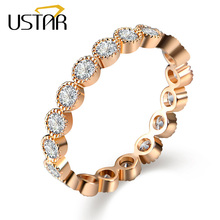 Italina Zircon Crystals Wedding Rings for women 18K Gold Plated Made with Austria Anillos Anel Joias ouro