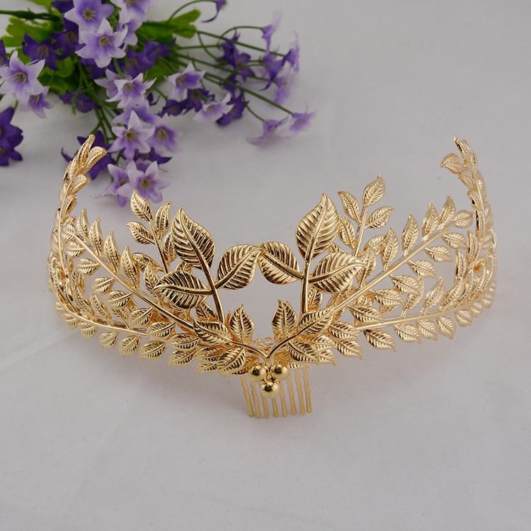 2015 gold foliage bridal hair combs wedding hair accessories fashion women s headdress head decoration in women s hair accessories from apparel accessories